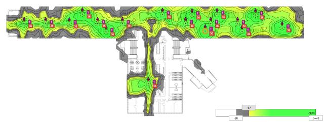 Building 11 Hallway heatmap